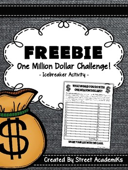 {FREE}Ice Breaker - What Would You Do With $1,000,000
