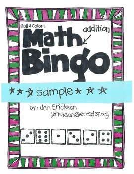 ***FREE***Math Bingo Sample (addition)
