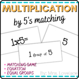 Multiplication Matching Game - 5's times table