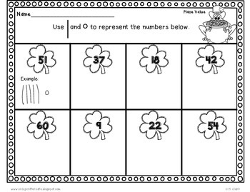 St. Patrick's Day Fun ~ Place Value {Tens & Ones}~ FREE