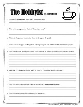 Hero &amp- Villain Short Story Worksheet by Brittany Maloy | TpT