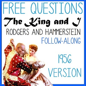 FREE:The King and I- Rodgers and Hammerstein- 1956 Movie Q