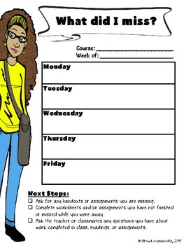 {FREE} What We Did This Week (Student Calendar)