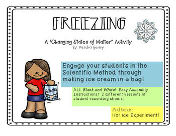 Ice Cream in a Bag- Freezing to Change States of Matter
