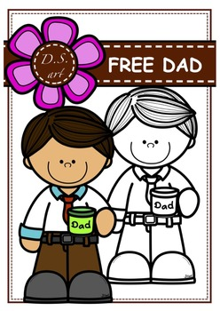 FREE_DAD Digital Clipart (color and black&white)
