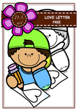 FREE_LOVE LETTER Digital Clipart (color and black&white)