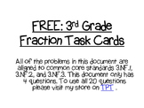FREE_Third Grade Fraction Task Cards:3.NF.1, 3.NF.2, 3.NF.3