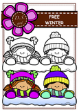 FREE_WINTER Digital Clipart (color and black&white)