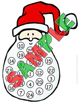 Countdown to Christmas with Santa - Sample {FREEbie}