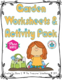 Garden Worksheets & Activity Pack - Sample {FREEbie}