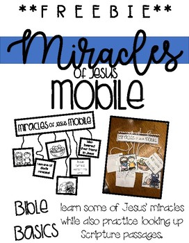 FREEbie!  Miracle's of Jesus Mobile