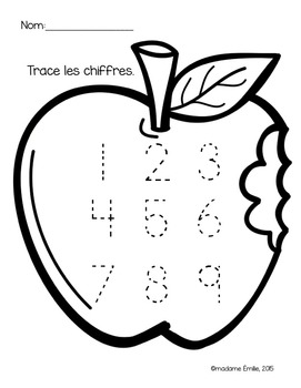 FRENCH 1000 FOLLOWERS FREEBIE/ Cahier à tracer {pommes}