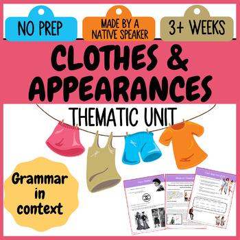 FRENCH 2 intermediate UNIT - MODE & APPARENCES / Vetements / pronoms