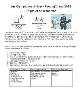 FRENCH 2018 NO PREP olympics PyeongChang Pyeong Chang research project