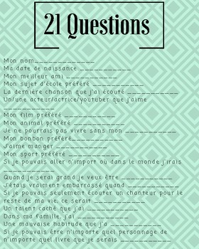 FRENCH- 21 Questions