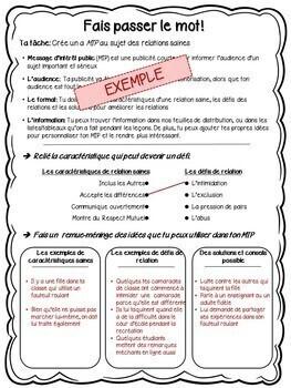 FRENCH - 3 Part Bundle - Grade 3: Human Development & Sexual Health