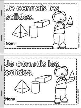 FRENCH 3D Shapes activity pack/ Les solides (affiches et activités)
