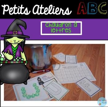 FRENCH Halloween ABC Center/ Atelier ABC (Chaudron de lettres)