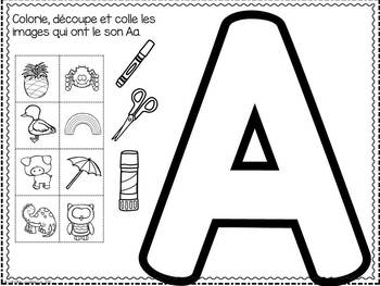 FRENCH ABC Interactive Notebook - Aa / Mon abécédaire interactif -Aa