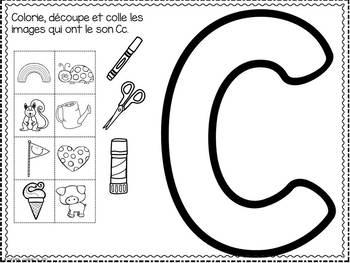 FRENCH ABC Interactive Notebook - Cc / Mon abécédaire interactif -Cc