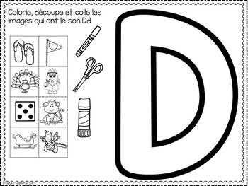 FRENCH ABC Interactive Notebook - Dd / Mon abécédaire interactif -Dd