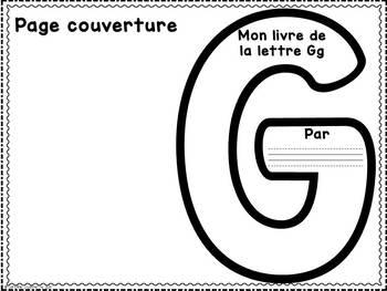FRENCH ABC Interactive Notebook - Gg / Mon abécédaire interactif -Gg