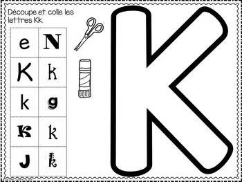 FRENCH ABC Interactive Notebook - Kk / Mon abécédaire interactif -Kk