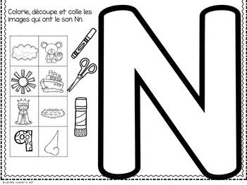 FRENCH ABC Interactive Notebook - Nn / Mon abécédaire interactif -Nn