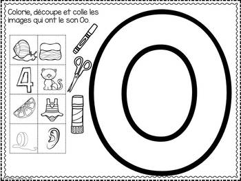 FRENCH ABC Interactive Notebook - Oo / Mon abécédaire interactif -Oo