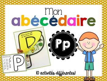FRENCH ABC Interactive Notebook - Pp / Mon abécédaire interactif -Pp