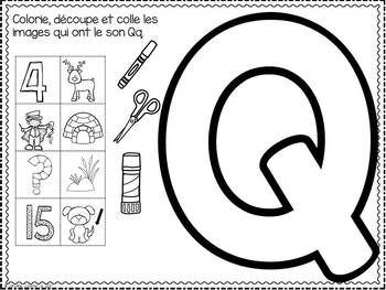 FRENCH ABC Interactive Notebook - Qq / Mon abécédaire interactif -Qq