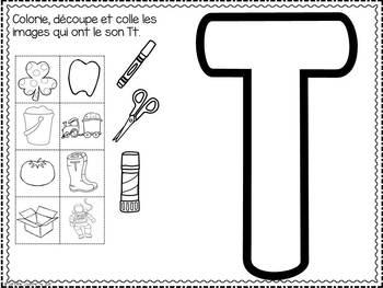 FRENCH ABC Interactive Notebook - Tt / Mon abécédaire interactif -Tt