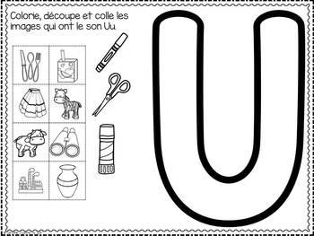 FRENCH ABC Interactive Notebook - Uu / Mon abécédaire interactif -Uu