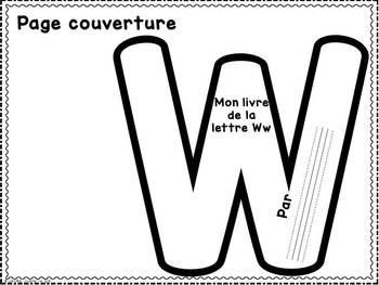 FRENCH ABC Interactive Notebook - Ww / Mon abécédaire interactif -Ww