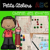 FRENCH  ABC Letter recognition mazes/Atelier ABC (Chemin d