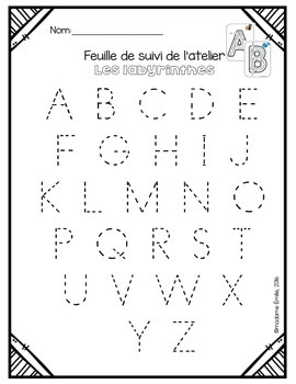 Original on trace abc worksheets