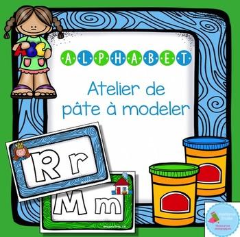 FRENCH ABC Playdough Mats/ Alphabet en pâte à modeler