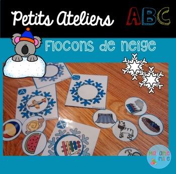 FRENCH ABC Snowflake Center/ Atelier ABC (Flocons de neige)