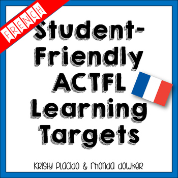 FRENCH ACTFL 5Cs student-friendly posters