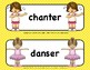 FRENCH WORD WALL - ACTION VERBS - NEW!
