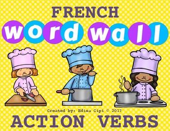 FRENCH ACTION VERBS + ENGLISH ACTION VERBS - BILINGUAL -