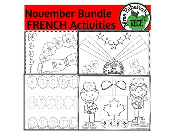 FRENCH ALPHABET AND NUMBERS ACTIVITIES November Mini Bundle
