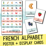 FRENCH ALPHABET POSTER AND DISPLAY / WORD WALL CARDS - PRINTABLE