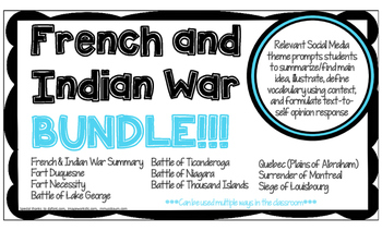 FRENCH AND INDIAN WAR BATTLE BUNDLE