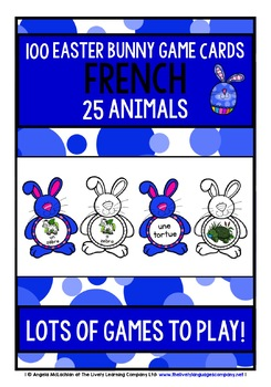FRENCH ANIMALS - 100 EASTER BUNNY GAME CARDS