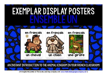 FRENCH FOR CHILDREN - 60 ANIMALS POSTERS / FLASHCARDS