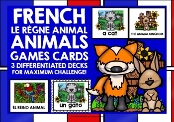FRENCH ANIMALS CARDS