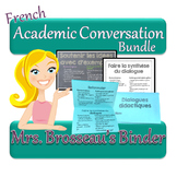 FRENCH Academic Conversations for Accountable Talk - Bundle