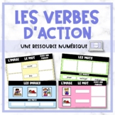 FRENCH Action Verbs - les verbes d'action - Digital Resource