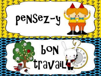 FRENCH - Alice in Wonderland Themed Behavior Chart